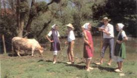 Costume des bergers et bergères en Bresse